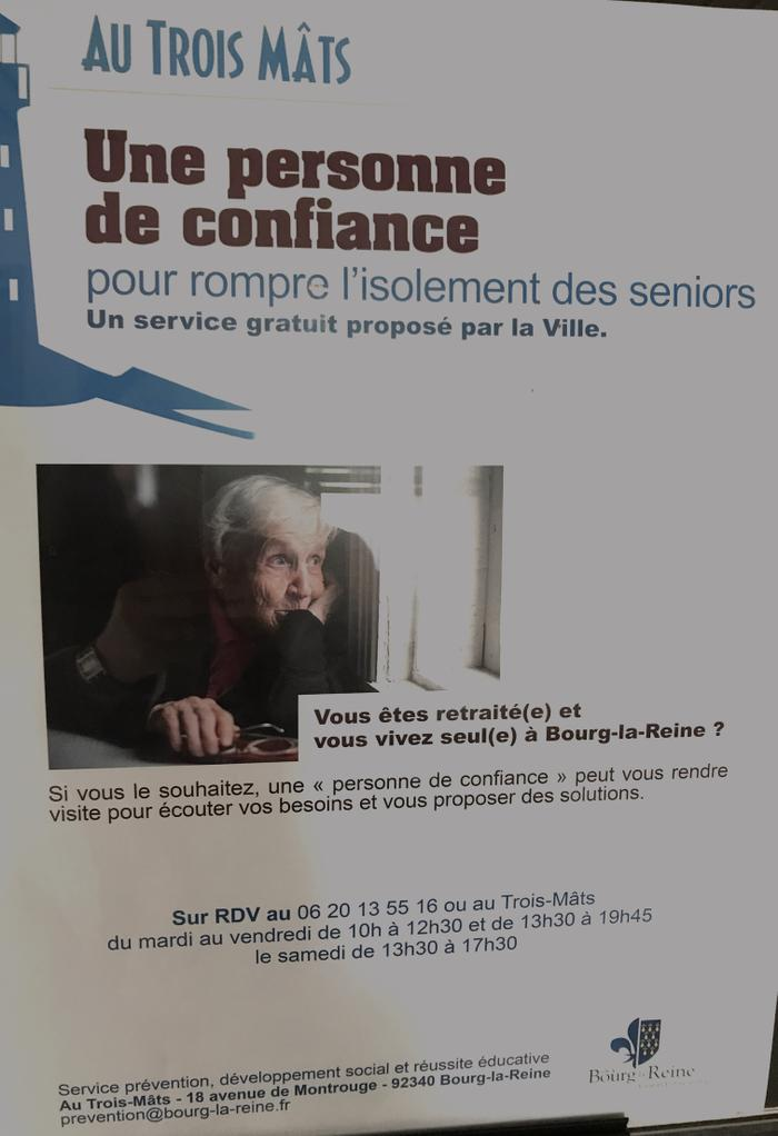 BLR Bourg la reine 92160 Senior trois mats isolement solitude